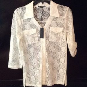 Cable & Gauge NWT XS off white blouse